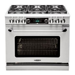 """Capital - Connoisseurian Series COB366-N 36"""" Dual Fuel Natural Gas Range with 6 Open Burne - Connoisseurian Ranges combine the most powerful range top burners available for domestic use with all the innovative features of Capitals electric oven including the groundbreaking moist mode The result is a range that delivers the ultimate in profes..."""