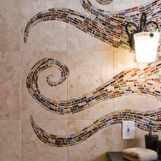 Eclectic Bathroom by Mercury Mosaics and Tile