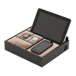 Mele Jewelry - Mele and Co. Rory Charging Valet in Java - Mele Jewelry - Jewelry Boxes - 00693S14