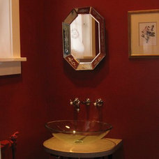 Eclectic Powder Room by Nadia Watts Interior Design