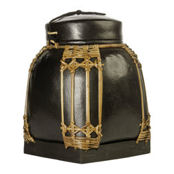 Foreign Affairs Home Decor - Decorative Bamboo Storage Containers NASI, Black, Small - These bamboo containers were used to store rice and other commodities. Now there are more sculpture than everyday objects but can be used safely to store everything from spices to laundry.