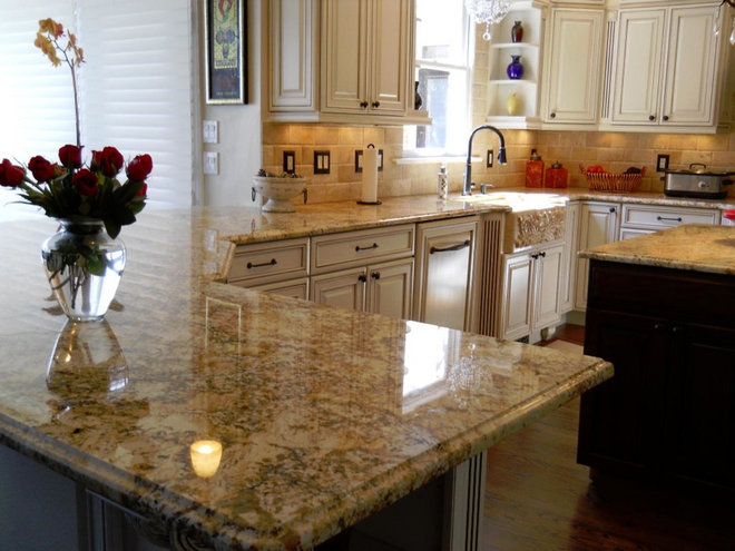 Traditional  by Granite Countertops by Mogastone