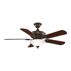 "Transitional 52"" Fanimation Camhaven Oil-Rubbed Bronze Ceiling Fan"