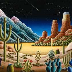 Murals Your Way - Desert Vision Wall Art - Painted by Andy Russell, the Desert Vision 11 wall mural from Murals Your Way will add a distinctive touch to any room