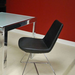 Soho - Eiffel Wire Leatherette Chair - SOHOBLKWIRE - Black Color
