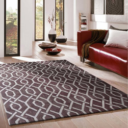 ~5' ft. x 7' ft. Light Brown Contemporary Indoor Area Rug, Hand-tufted - This Rug Measures Approximate Size(Width X Length):~5 X 7' ft. (152 cm x 214 cm) / No Assembly Required