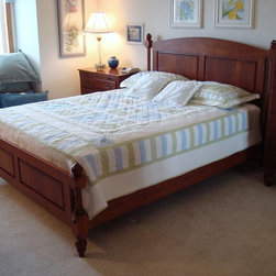 Custom Cherry Four Post Bed -