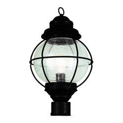 """Trans Globe Lighting - Trans Globe Lighting 69902 BK Onion Lantern Post Top 15"""" Black - Bask in the ocean breeze next to a classic onion lantern. An outdoor lighting collection from Trans Globe for sea worthy coastal landscapes."""