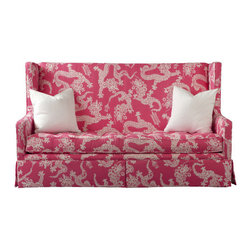 Leigh Settee by Lilly Pulitzer - This Lilly Pulitzer dragon Tail Lights settee is the ultimate preppy chinoiserie couch.