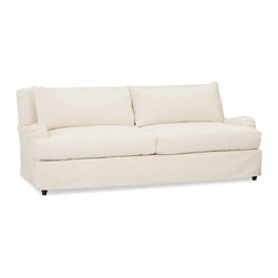 Carlisle Slipcovered Sofa - Here's a great slipcovered sofa with one seat cushion and a tight back.