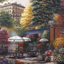 Murals Your Way - Park Cafe Wall Art - Painted by Sambataro, the Park Cafe wall mural from Murals Your Way will add a distinctive touch to any room