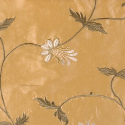 Leaf/Foliage/Vine - Antique Gold Fabric - 55% Nylon 45% Polyester. Made in CHINA.