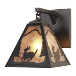 Steel Partners Inc - Hanging Sconce - TIMBER RIDGE - DEER - Every piece we create is unique — handcrafted at our factory in Chehalis, Washington, USA. Due to this, lead times are 2 to 4 weeks.