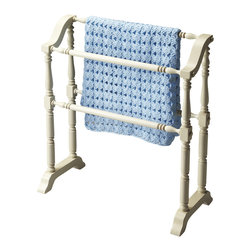 Butler Specialty - Butler Lillian Cottage White Blanket Rack - Selected solid woods. Horizontal rods for hanging quilts, comforters, bed spreads, duvets, and blankets. Can also be used for hanging guest towels.
