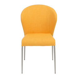 Eurostyle - Euro Style Sy Collection Sy Side Chair in Yellow/Brushed Stainless Steel [Set of - Sy Side Chair in Yellow/Brushed Stainless Steel in the Sy Collection by Eurostyle