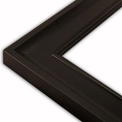 The Frame Guys - Slope Black Picture Frame-Solid Wood, 12x14 - *Slope Black Picture Frame-Solid Wood, 12x14