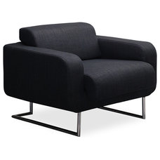 Modern Armchairs And Accent Chairs Camden Black Lounge Chair