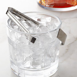 """Lauren Ralph Lauren - Lauren Ralph Lauren Glen Plaid Ice Bucket with Tongs - The perfect complement to any beverage service, this ice bucket features a glen plaid design and comes with a pair of tongs that match the handle. Made lead crystal. Hand wash. 6.25""""Dia. x 7""""T. Imported."""