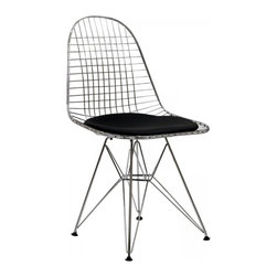 Modway Imports - Modway EEI-200-BLK Tower Dining Side Chair In Black - Modway EEI-200-BLK Tower Dining Side Chair In Black