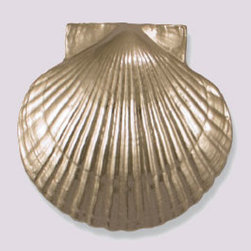 Scallop Shell Door Knocker - This adorable seashell door knocker will welcome guests.