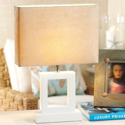Roma Square Wooden Lamp - I agree with Huey Lewis: It's hip to be square. Especially when you are a modern table lamp.