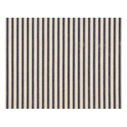 "Close to Custom Linens - 30"" Tailored Tiers, Lined, Ticking Stripe Indigo Blue - Give your home the refreshing feel of a classic seaside resort with these ticking stripe curtains in indigo blue. You can practically smell the fresh sea air."