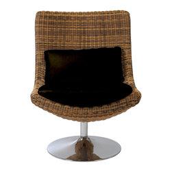Eurostyle - Fenia Swivel Chair-Triple Brown - Triple brown polyethylene resin
