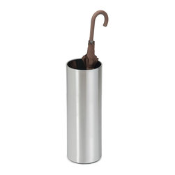 Blomus - Casa Stainless Steel Umbrella Stand - Free standing. Made of stainless steel. Designed by Stotz-Design. 1-Year manufacturer's defect warranty. 8 in. Dia. x 23.2 in. H