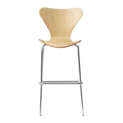 Fine Mod Imports - Jays Bar Stool in Natural Finish - Contemporary style. Warranty: One year. Assembly required. Seat height: 31 in.. Overall: 21 in. W x 19 in. D x 45.5 in. H (25 lbs.)Jay bar stool is great for homes and business use. With its simple shape the chair is sure to provide great comfort wherever used.