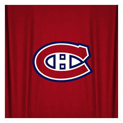 Sports Coverage - NHL Montreal Canadiens Hockey Locker Room Shower Curtain - FEATURES: