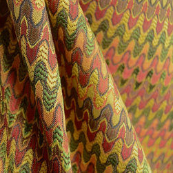 Mahalia Terra Cotta Flame Stitched Swavelle Upholstery Fabric By The Yard - Awesome small scale flame stitched pattern. Polyester Rayon mix this Swavelle upholstery fabric is great for any applications.