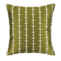 COCOCOZY - Cococozy Wellesley Avocado On Natural Pillow - Embroidered pillow by Cococozy