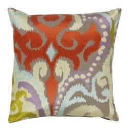"Surya - Surya 18 x 18 Decorative Pillow, Multicolored (AR073-1818P) - Surya AR073-1818P 18"" x 18"" Decorative Pillow, Multicolored"