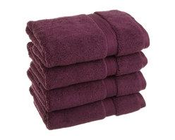 Luxurious Egyptian Cotton 900 Gram 4-Piece Plum Hand Towel Set - Luxurious Egyptian Cotton 900GSM 4pc Plum Hand Towel Set