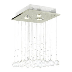 Modern Chandelier Rain Drop Lighting Crystal Ball Fixture Pendant Ceiling Lamp - Modern chandelier rain drop lighting crystal ball fixture pendant ceiling lamp h18 X d12, 3 lights,
