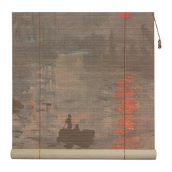 "Oriental Unlimted - Impression Sunrise Bamboo Blinds (24 in.) - Choose Size: 24 in.An image of the classic masterpiece painting ""Impression, Sunrise"" from Claude Monet is featured as part of this lovely bamboo blind, an artistic and colorful addition to your home's decor. Featuring a morning sun rising on a quiet body of water, the blind is made of matchstick bamboo and is available in your choice of sizes. Feature an image of Claude Monet's Impression, Sunrise, c.1893 painting. Easy to hang and operate. 24 in. W x 72 in. H. 36 in. W x 72 in. H. 48 in. W x 72 in. H. 60 in. W x 72 in. H. 72 in. W x 72 in. H"