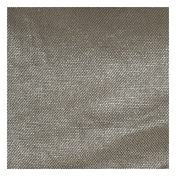 Metallic Silver Coated Taupe Linen Fabric Shimmering