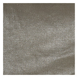 Metallic Silver Coated Taupe Linen Fabric - Shimmering solid of silver metallic foil on dark taupe slubby linen. A chic alternative to standard neutrals that adds depth & sparkle.Recover your chair. Upholster a wall. Create a framed piece of art. Sew your own home accent. Whatever your decorating project, Loom's gorgeous, designer fabrics by the yard are up to the challenge!