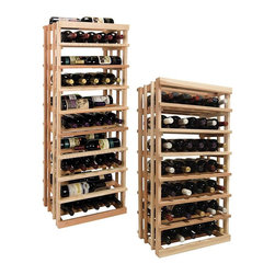 Wine Cellar Innovations - Vintner Series Wine Rack - Open Vertical Display Wine Racks - The Vintner Series Open Vertical Display provides the perfect showcase for the prized wine bottles you would like to show off. This wine rack display is flexible and can be used to display 5 wine bottles left to right, or 3 wine bottles front to back. The image illustrates both options. Purchase two to stack on top of each other to maximize the height of your wine storage. Moldings and platforms sold separately. Assembly required.