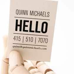Quinn Letterpress Calling Cards by In Haus Press - Stylish calling cards are a must for any workspace.