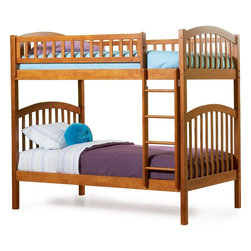 Richmond Twin over Twin Bunk Bed in Caramel Latte - Features: