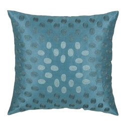 """Rizzy Home - T-3604 18"""" Decorative Pillow in Peacock Blue (Set of 2) - Distinctive and elegant, these decorative accent pillows are versatile enough to be used in any room of the home. Rich hues and textural accents will allow you to add your signature touch and create your own style. Features: -Color: Peacock Blue. -Material: Poly slub. -100% Siliconized polyester fiber filler. -Zippered pillow cover with poly fill insert. -Dry clean only."""