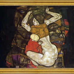 "Egon Schiele-16""x20"" Framed Canvas - 16"" x 20"" Egon Schiele Young Mother (also known as Blind Mother) framed premium canvas print reproduced to meet museum quality standards. Our museum quality canvas prints are produced using high-precision print technology for a more accurate reproduction printed on high quality canvas with fade-resistant, archival inks. Our progressive business model allows us to offer works of art to you at the best wholesale pricing, significantly less than art gallery prices, affordable to all. This artwork is hand stretched onto wooden stretcher bars, then mounted into our 3"" wide gold finish frame with black panel by one of our expert framers. Our framed canvas print comes with hardware, ready to hang on your wall.  We present a comprehensive collection of exceptional canvas art reproductions by Egon Schiele."