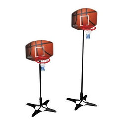 Mini Basketball Court with Weighted Pads - -Sturdy 9mm MDF Backboard with cool basketball graphic