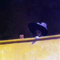 "Felix Vallotton Box Seats at the Theater Print - 16"" x 20"" Felix Vallotton Box Seats at the Theater, the Gentleman and the Lady premium archival print reproduced to meet museum quality standards. Our museum quality archival prints are produced using high-precision print technology for a more accurate reproduction printed on high quality, heavyweight matte presentation paper with fade-resistant, archival inks. Our progressive business model allows us to offer works of art to you at the best wholesale pricing, significantly less than art gallery prices, affordable to all. This line of artwork is produced with extra white border space (if you choose to have it framed, for your framer to work with to frame properly or utilize a larger mat and/or frame).  We present a comprehensive collection of exceptional art reproductions byFelix Vallotton."