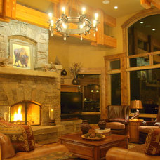 Traditional Family Room by Laurie Kertis, Ltd.