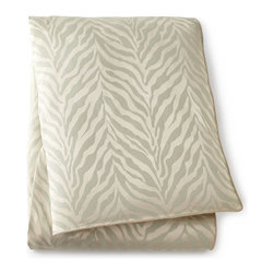 "Sweet Dreams - King Zebra Duvet Cover 106"" x 96"" - MINT-IVORY - Sweet DreamsKing Zebra Duvet Cover 106"" x 96""Designer About Sweet Dreams:In 1986 Denise Sansing launched Sweet Dreams a collection of intricately designed and elegant bedding and accessories. Sansing whose design studio is located in Texas focuses on heirloom-quality linens drawing inspiration for her Sweet Dreams line from antique European textiles."