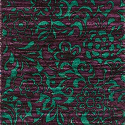 """Loloi Rugs - Loloi Rugs Aria Collection - Purple / Turquoise, 1'-8"""" x 3' - Expressive and relaxed, stylish and fun. The Aria Collection from India has it all. Pretty paisley patterns, flourishing flowers, dreamy damasks and magical medallion designs are printed onto 100% recycled cotton Chindi for scatter rugs that are flirty and fashionable. Dressed in a palette of bold, saturated colors that take you from cool blues and pinks to warm spice tones and modern tropical hues, too, Aria rugs come in select scatter sizes that will accent choice spaces with flair."""