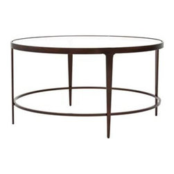 Roundabout Cocktail Table by Charleston Forge - Dimensions: