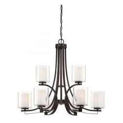 Minka-Lavery - Minka-Lavery Parsons Studio 9-Light Chandelier - 4109-172 - Illumination